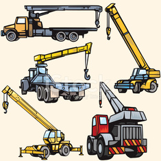 Construction Vehicle Illustrations (Vector)