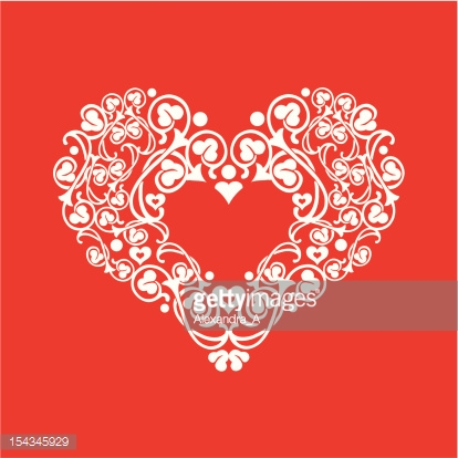 vector postcard with heart
