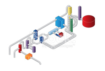 Isometric Natural Gas Processing Plant
