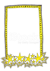 hand-drawn yellow frame with stars