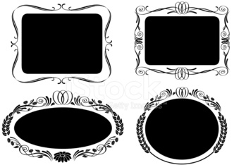 Set of Ornate Frames and Labels