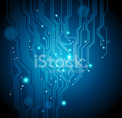 Circuit board abstract vector background