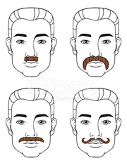 Four Mustache Styles