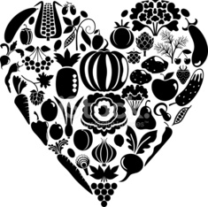Heart from vegetables
