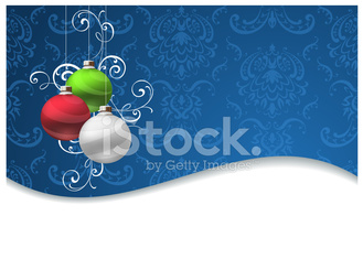 Christmas Bauble Snow Wave Background