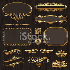 Golden design elements & page decor