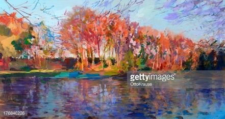 fall landscape painting