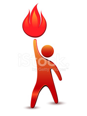 Man holding a flame