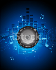 Abstract blue music background
