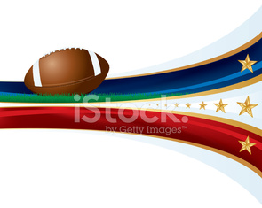 Football Banner with Stars