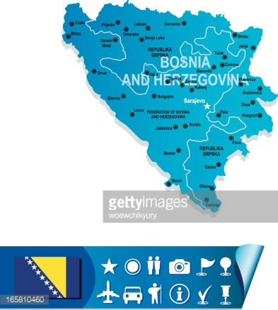 Karta Over Bosnien Hercegovina.Bosnia And Herzegovina Map Stock Photos Vectorhq Com