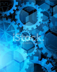 Abstract blue gears background