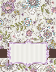 background of hand draw  flowers
