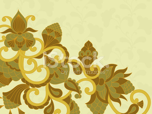 Vector card with floral ornament.