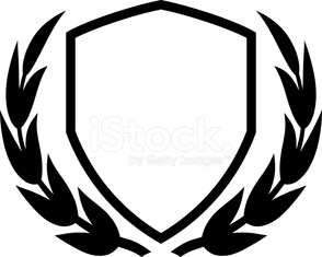 Shield and laurel wreath - Vector illustration