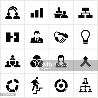 Black Business Collaboration Icons
