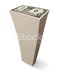 Tall Stack Of Cash