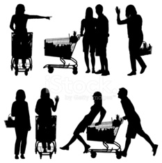 6db824fe884e Silhouette Di Gente Lo Shopping IN Un Supermercato stock photos ...