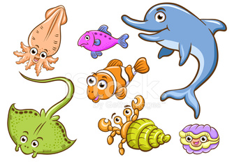 Aquatic Animals Stock Photos Vectorhqcom