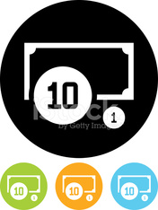 Vector icon isolated on white - Cash money