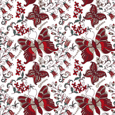 Bright seamless background with butterflies