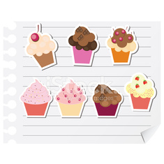 Cupcakes. Vector illustration