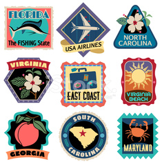 Travel Stickers East Coast USA