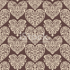 hearts-pattern-on-brown