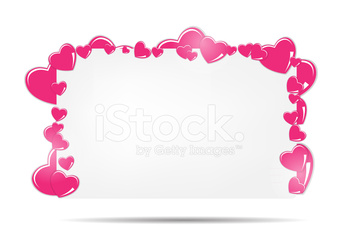 Blank card with hearts vector illustration vector image ...