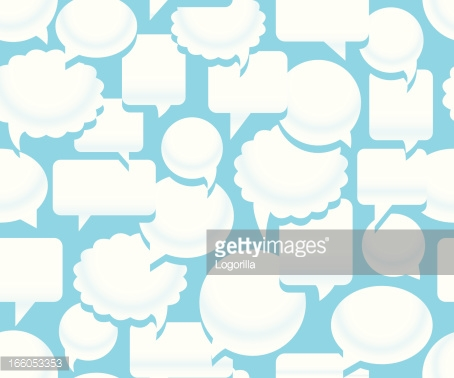 Seamless talking background pattern