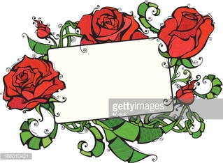 Blank tablet with roses