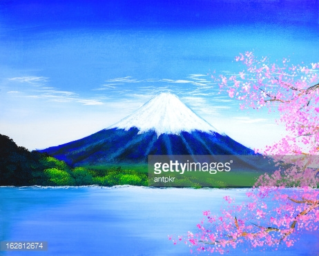 Fuji mountain painting