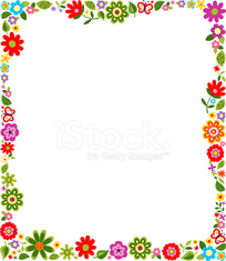 Border frame with floral pattern