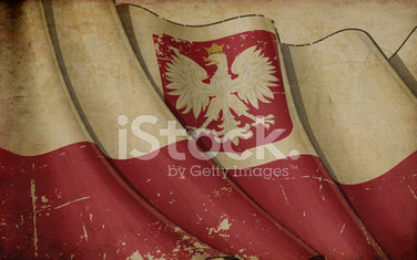 Polish State Flag Old Paper