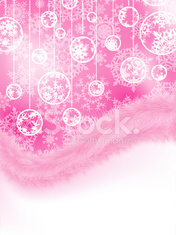 Cute pink new year and cristmas card. EPS 8