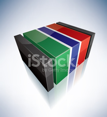3D flag of Gambia