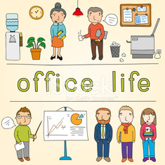 Office life set