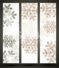 New Year banner with snowflakes
