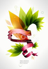 colorful plant banner