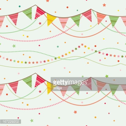 Party pennant bunting.