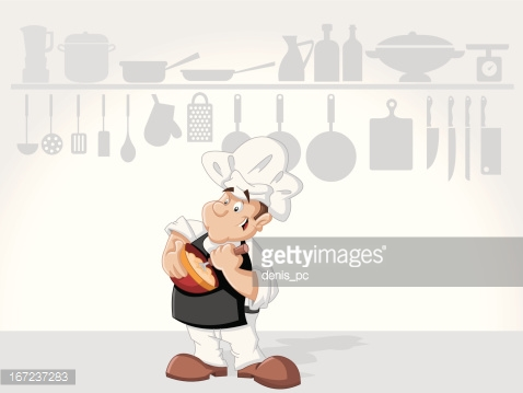 Chef man cooking