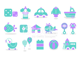 Baby toy icons