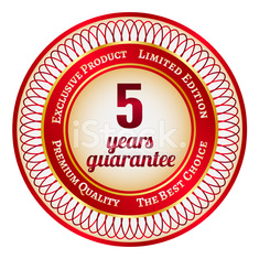 Label on 5 year guarantee