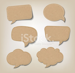 Cardboard Comic Speech Bubbles