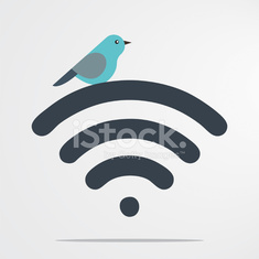 Bird on wifi symbol
