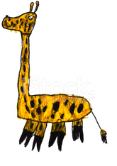 child's drawing - giraffe