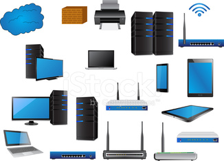 LAN Network Icons Vector Illustrator.