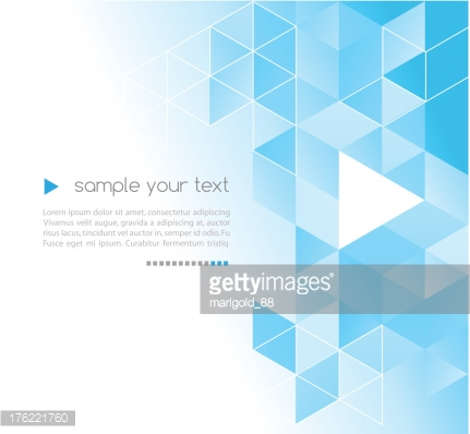 Abstract background with turquoise triangles