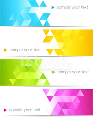 Set of abstract backgrounds with diamond motif