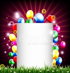 birthday background with balloon's and place for text